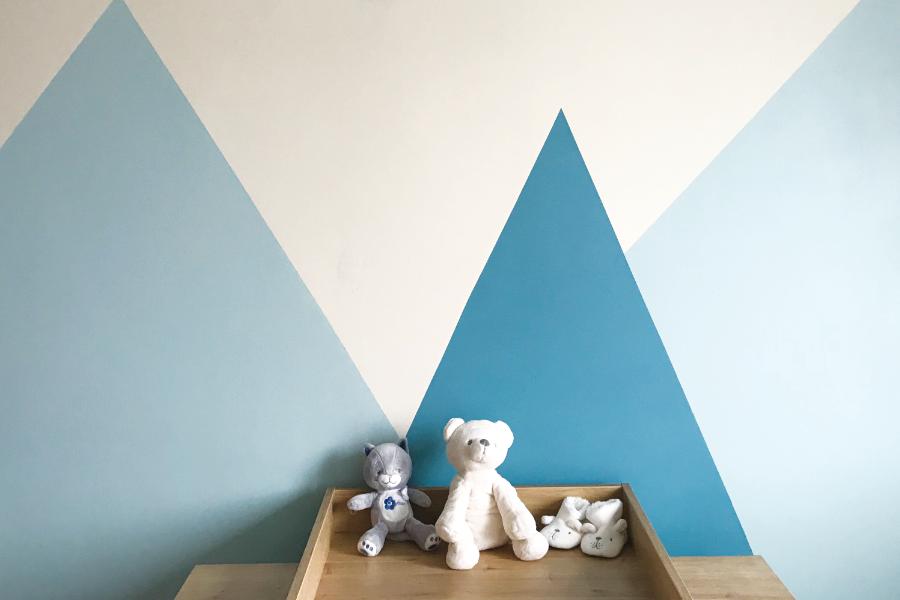 DIY : Peindre un mur montagne pour une chambre d\'enfant